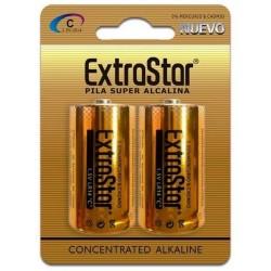 Blister 2 pilas alcalinas LR14 extrastar