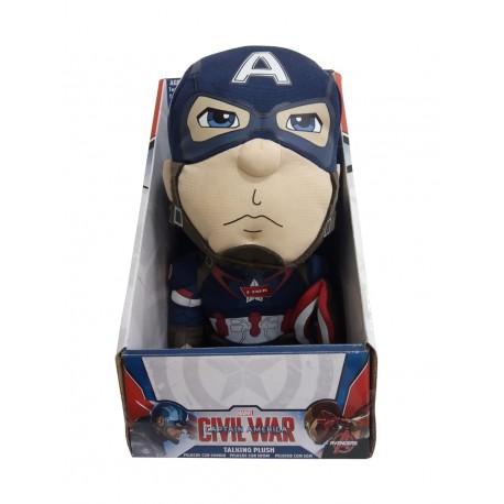 Capitán América peluche con sonidos 25 cm