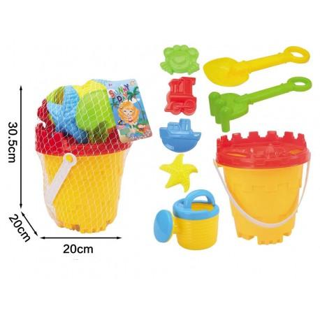 Cubo playa pequeño con accesorios josbertoys (183)