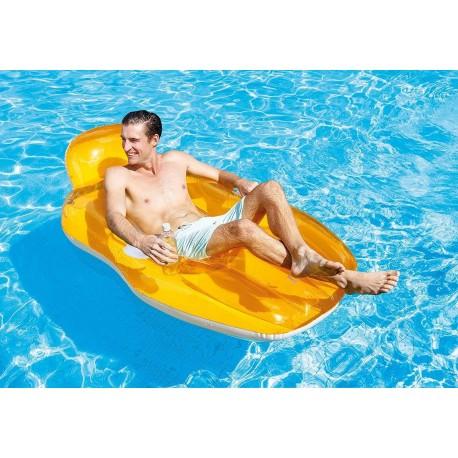 Colchoneta Lounge Chill N Float intex 163x104 cm (56805)