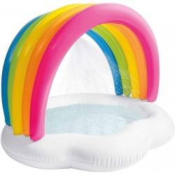 Piscina infantil hinchable ducha arcoíris intex (57140)