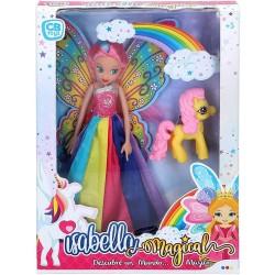 Muñeca con caballo Isabella Magical colorbaby (49078)