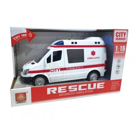 Ambulancia con luz y sonidos josbertoys (330)