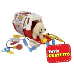 Maletín porta perrito veterinario
