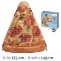 Colchoneta hinchable porción de pizza