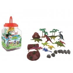 Bote dinosaurios 22 piezas
