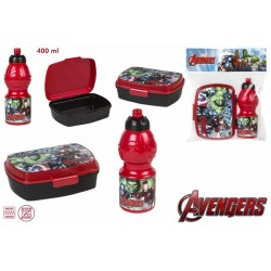 Set sandwichera + botella 400ml - Avengers