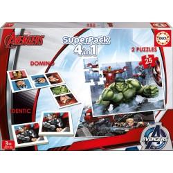 Superpack Avengers 4 en 1 educa (16692)