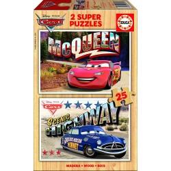 Puzzle madera Cars - 2x25