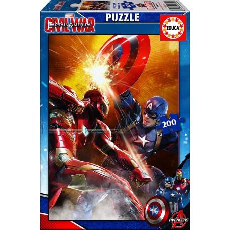 Capitán America Puzzle Civil War - 200 pcs