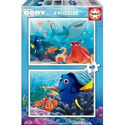 Puzzle Buscando a Dory - 2x48