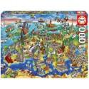 Puzzle Europa en el Mundo - 1000 pcs