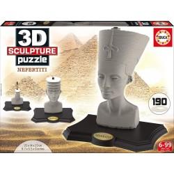 Puzzle 3D Escultura Nefertiti