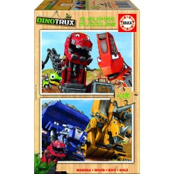 Puzzle madera Dinotrux - 2x16