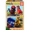 Puzzle madera Dinotrux - 2x16