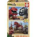 Puzzle madera Dinotrux - 2x25
