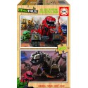 Puzzle madera Dinotrux - 2x50