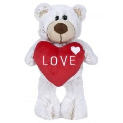 Oso San Valentín 22 cm - Blanco