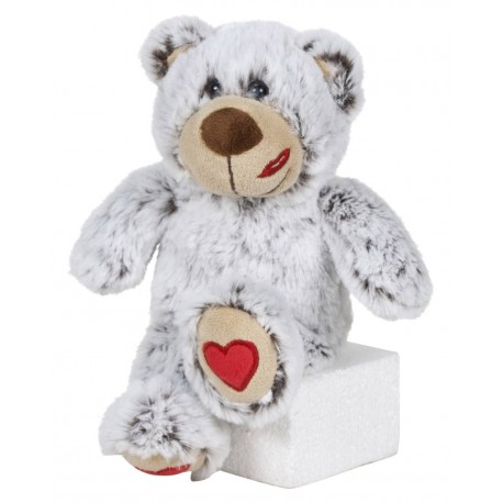 Oso San Valentín 22 cm - Gris