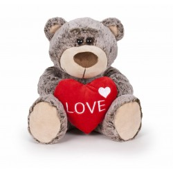 Oso San Valentín 37 cm - Marrón