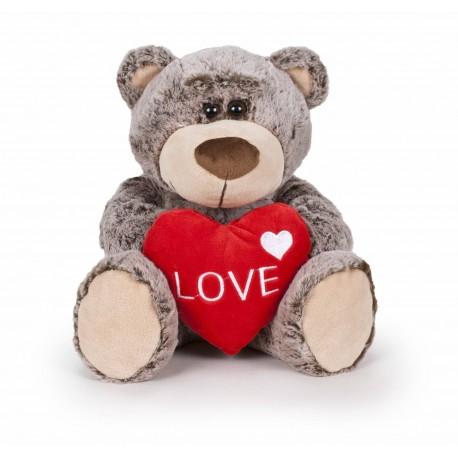 Oso San Valentín marrón 37 cm famosa (16118)