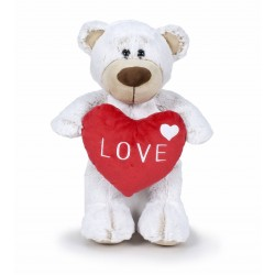 Oso San Valentín 37 cm - Blanco