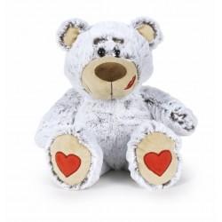 Oso San Valentín 37 cm - Gris