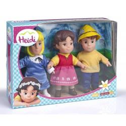 Heidi pack 3 figuras famosa (12930)