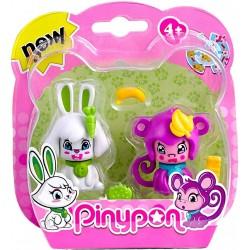 Pinypon mascotas – Conejo y mono