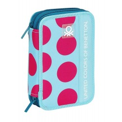 Plumier doble 34 pcs - Benetton Dots
