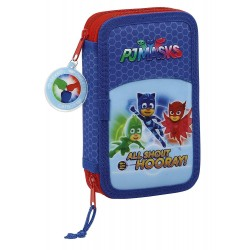 Plumier doble 28 pcs - PJ Masks