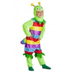 Disfraz gusano multicolor 5-6 años