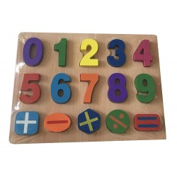 Puzzle Madera números