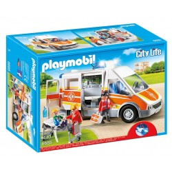 Playmobil ambulancia con luces y sonido