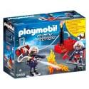 Playmobil Bomberos con bomba de agua
