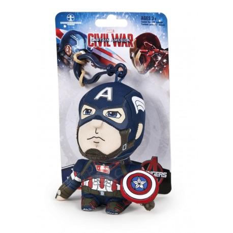 Peluche/llavero Marvel 11cm sonidos - Capitán América