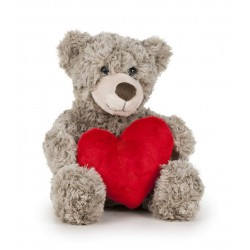 Oso San Valentín 25 cm - Marrón