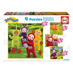 Puzzles progresivos Teletubbies 6-9-12-16 pcs