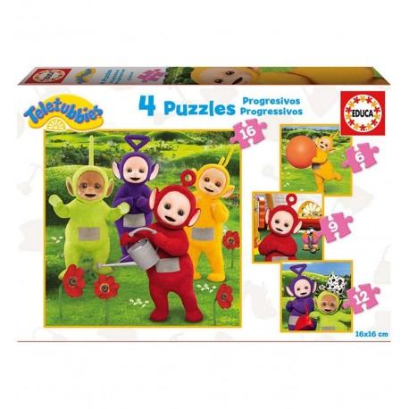 Puzzles progresivos Teletubbies 6-9-12-16 pcs