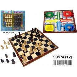 Tablero parchis ajedrez