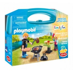 Playmobil maletin barbacoa