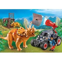 Playmobil Coche con Triceratops