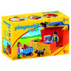 Playmob 123 maletin mercado