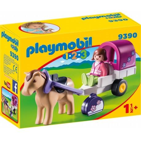 Playmobil 123 carruaje de caballos