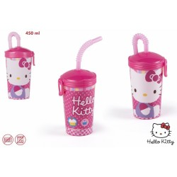 Hello kitty vaso plastico 450 ml