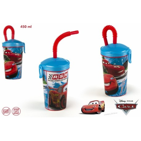 CARS VASO PLASTICO 450ML