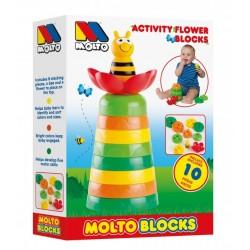 Juego bloques con forma de flor