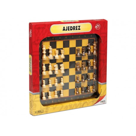 Ajedrez +figuras madera