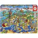 Puzzle Europa en el Mundo - 1000 pcs educa (16752)