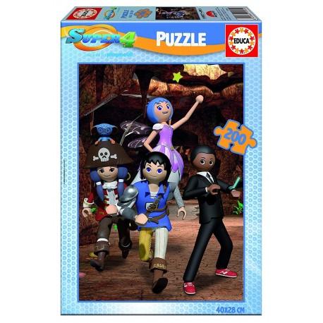 Puzzle Super 4 - 200 pcs educa (17281)
